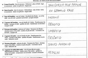 O formato PLURILINGUE nos documentos italianos