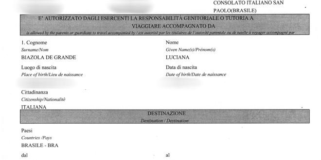Viajando com menores #2 – Autorização de Viagem na Italia
