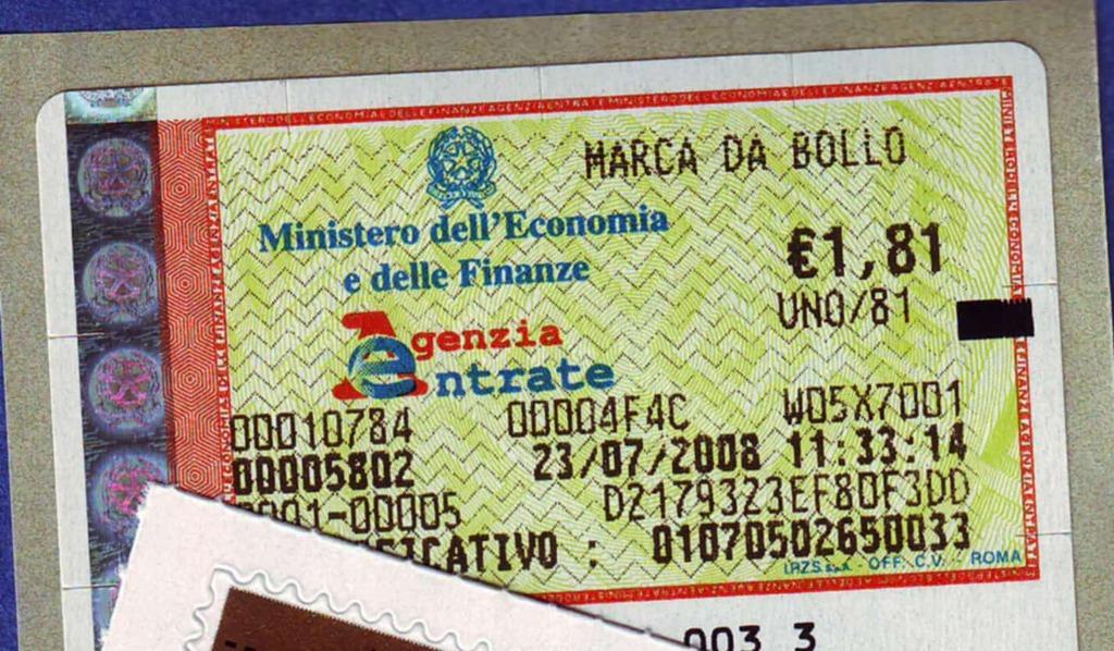 marca da bollo italiana