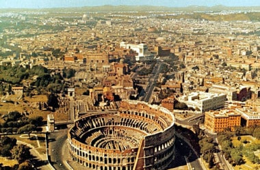 Chegando em Roma