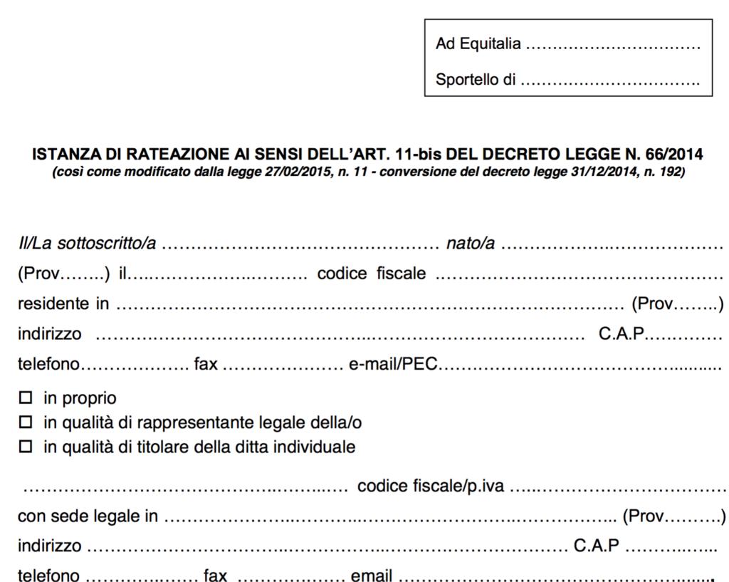 formulário italiano