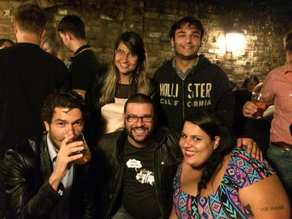 Rafael, Yuri, Brunno, eu e a Polly Barbi