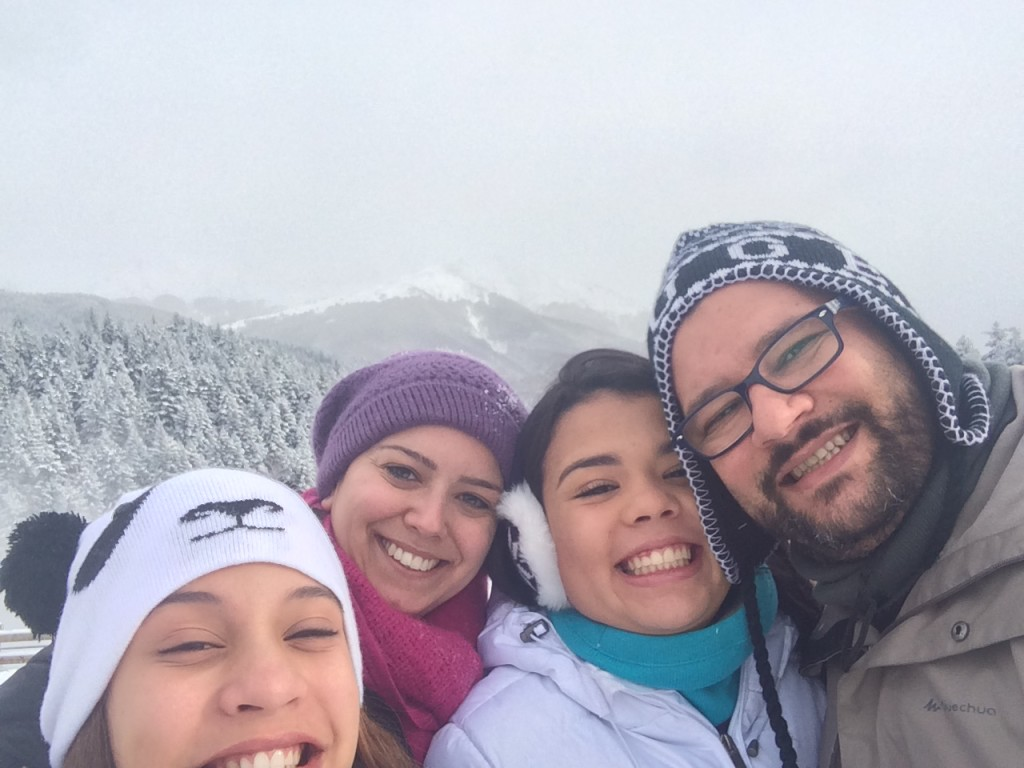 Brunna, Lu, Isa e eu - felicidade estampada!!!