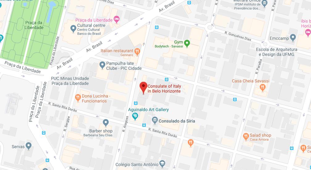 Consulado Italiano em Belo Horizonte (MG)