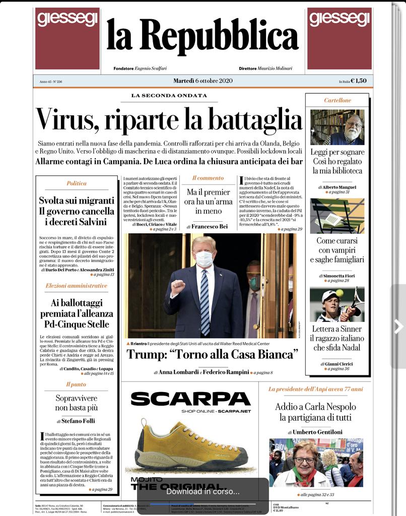 Notícias fresquinhas da Itália